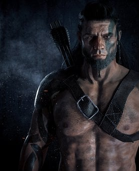 Man, Warrior, Male Character, Fantasy, Scar, Viking