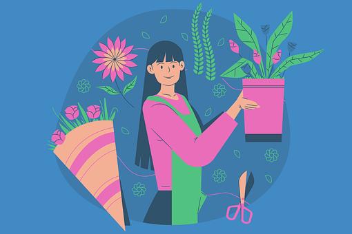 Flower Shop, Flower, Florist, Flower-vase, Decoration