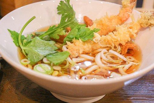 Noodles, Food, Dish, Ramen, Shrimp Tempura, Tasty