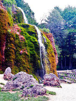Dreimühlen-wasserfall, Eifel, Waterfall, Moss, Water
