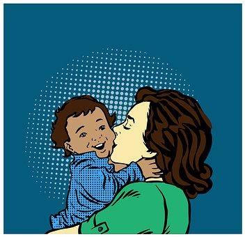 Mother Day, Art, Comic Style, Pop Art, Retro, Comic