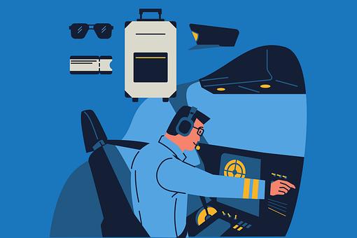 Air-commander, Pilot, Uniform, Airplane, Airport, Radar