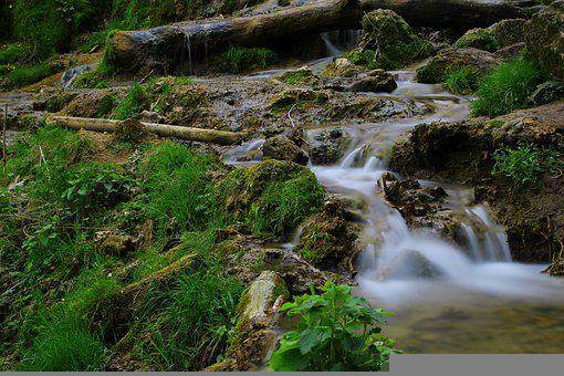 Waterfall, Bad Urach, Baden Württemberg, Water, Tourism