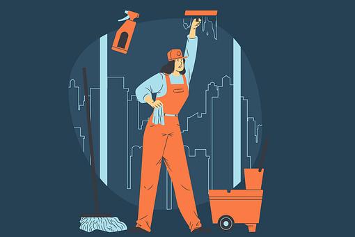 Washer, Window Cleaner, Profession, Glasses, Work, Job