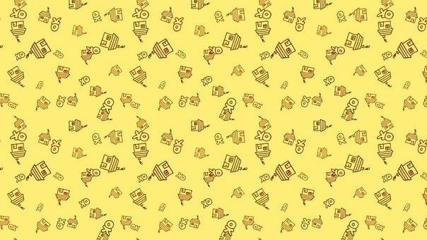 Background, House, Ok, Pattern, Yellow, Apartment