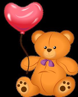 Bear, Teddy, Love, Plush, Balloon, Heart, Affection