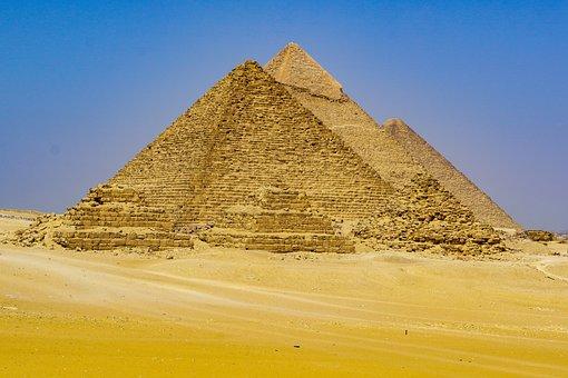 Pyramids, Cairo, Egypt, Desert, Ancient, Pharaoh