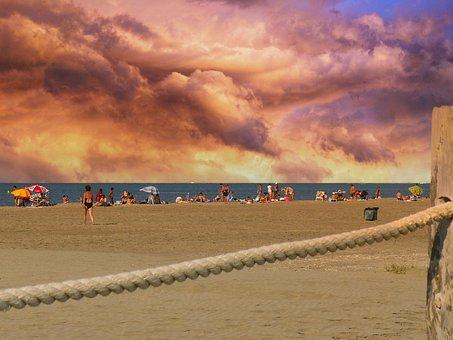 Beach, Sea, Sand, Ocean, Coast, Holiday, Barcelona