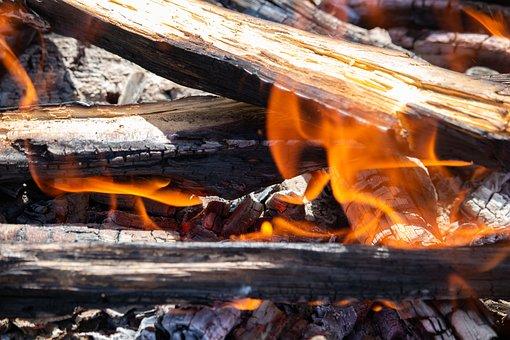Charcoal, Ash, Burnt, Burn, Fire, Camping, Hot