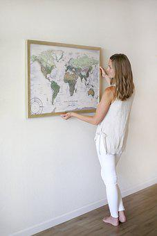 Map, Earth, Wall, Geography, Travel, Cartography