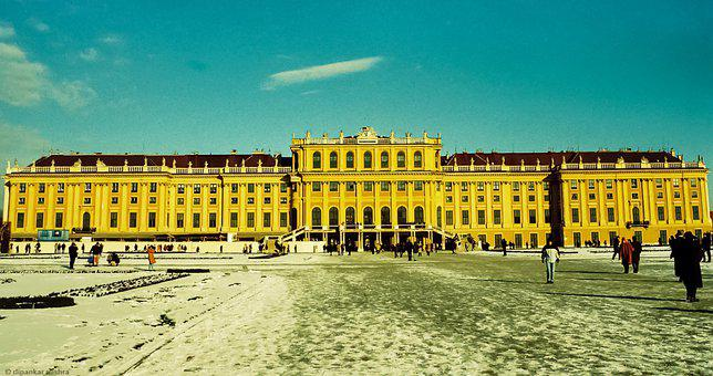 Vienna, Schonbrunn, Travel, Snow, Cold, Winter, Austria