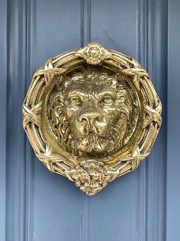Dublin, Door, Brass, Lion, Ireland, Building
