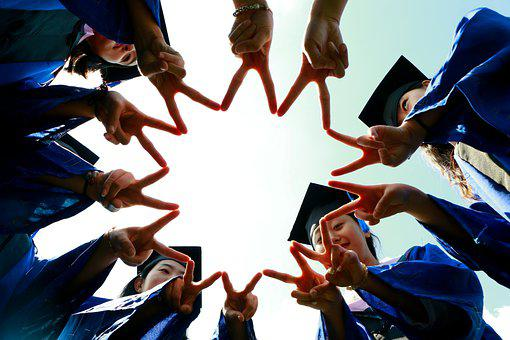 Group, Fingers, Star, Graduates, Hands, People, Friends