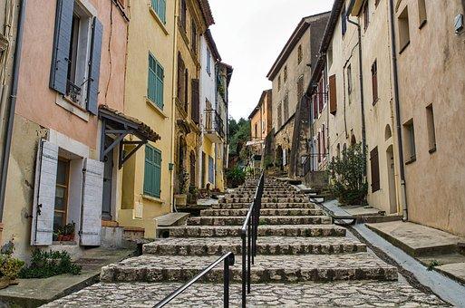 Buildings, Houses, Street, Lane, Staircase