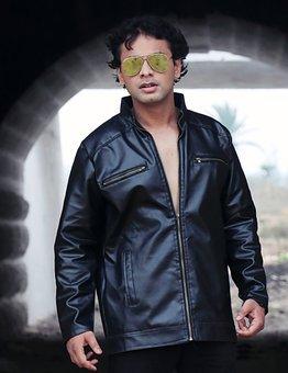 Man, Model, Sunglasses, Leather Jacket, Street, Style