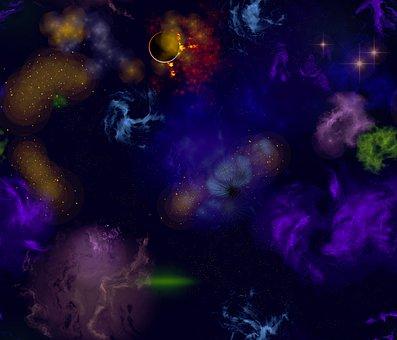 Original Artwork, Night Sky, Stars, Nebula, Design