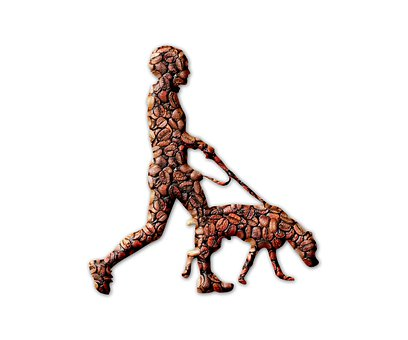 Dog, Man, Coffee Beans, Coffee, Abstract, Pet, Animal