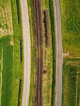Railroad, Road, Fields, Railway, Rail, Rail Tracks