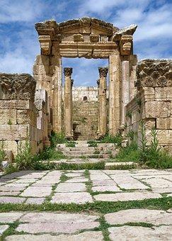 Building, Temple, Ruin, Door, Portal, Stairs