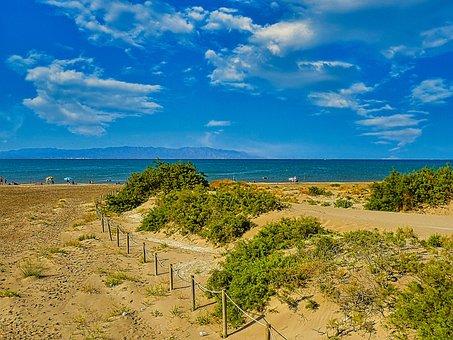Beach, Sea, Sand, Coast, Fence, Island, Holiday