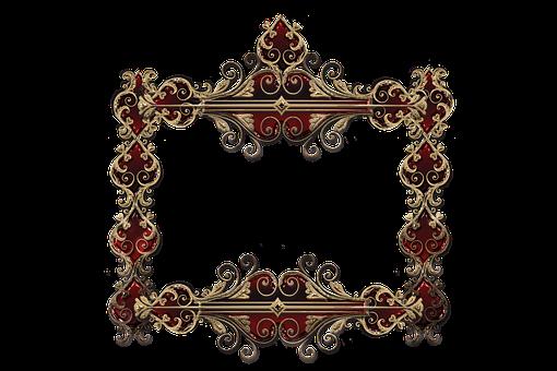 Frame, Gold, Red, Shiny, Brilliant, Decorative, Border