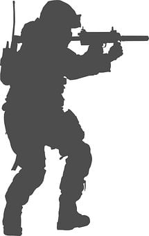 Soldier, Military, Silhouette, Rifle, Weapon, Man