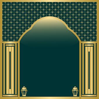 The Mosque, Palm Trees, Star, Islam, Ramadan Kareem