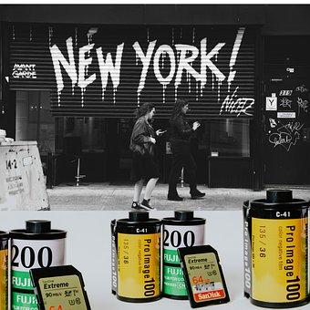 New York, Apple, America, Usa, City, Architecture