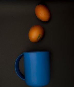 Eggs, Food, Cup, Mug, Brown Eggs, Chicken Eggs, Organic