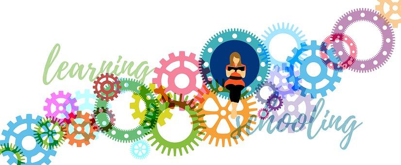 School, Learn, Gears, Knowledge, Development, Person