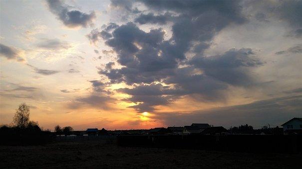 Clouds, Sunset, Sky, Nature, Sun, Horizon, Light