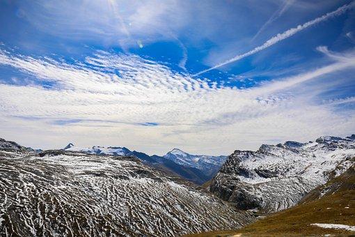 Mountains, Summit, Snow, Peak, Mountain Range