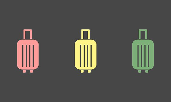 Luggage, Travel, Suitcase Illustration, Suitcase Vector