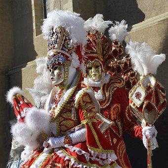 Carnival, Venetian, Costume, Masks, Disguise