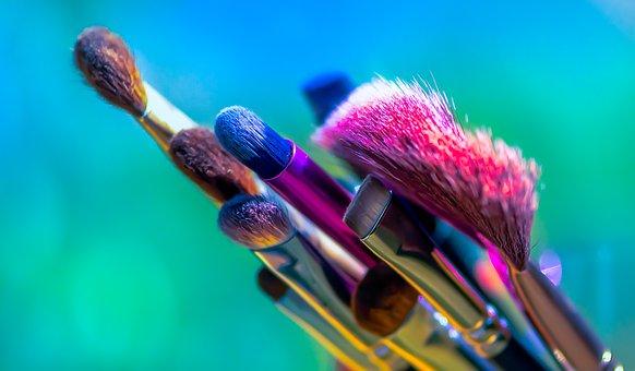Makeup Brushes, Brushes, Beauty, Cosmetics, Bristles
