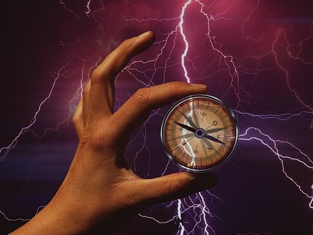 Compass, Lightning, Confused, Disoriented, Flash