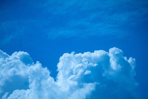 Sky, Clouds, Atmosphere, Cumulus, Cumulus Clouds
