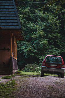 Car, House, Outdoors, Parking Area, Vehicle, Auto