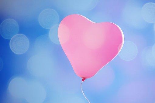 Balloon, Heart, Flying, Sky, Love, Pink, Heart Balloon