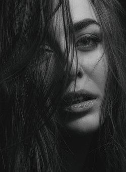 Beauty, Woman, Monochrome, Girl, Face, Beautiful, Model