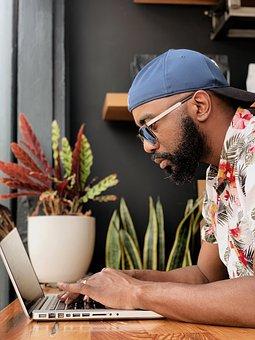 Man, Laptop, Work, Working, Desk, Table, Employee