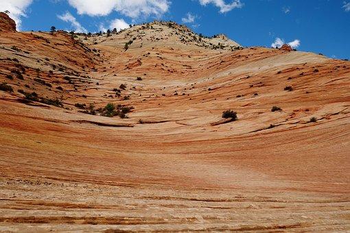Zion National Park, Zion, Usa, Utah, Landscape, Desert