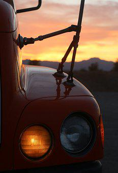 Vehicle, Light, Sunset, Automotive, Auto, Automobile