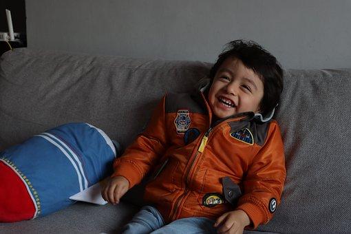 Kid, Boy, Star Wars Jacket, Happy, Smile, Child