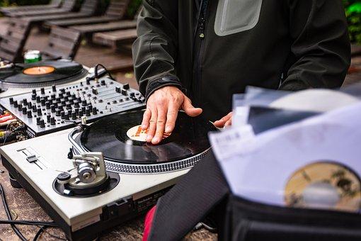 Dj, Turntable, Vinyl Record, Mixer, Audio Mixer