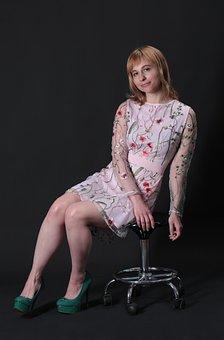 Floral Dress, Fashion, Model, Portrait, Woman, Girl