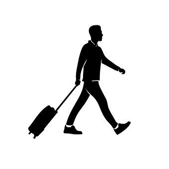 Travel Man, Silhouette, Nature, Journey, Adventure