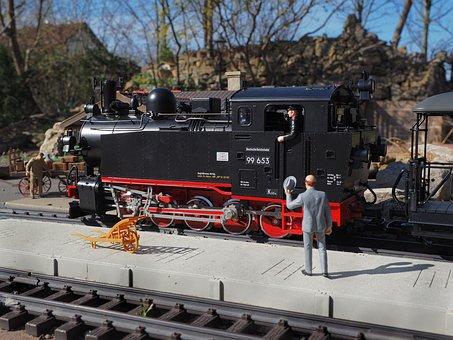 Model Railway, Train, Platform, Miniature, Model Train