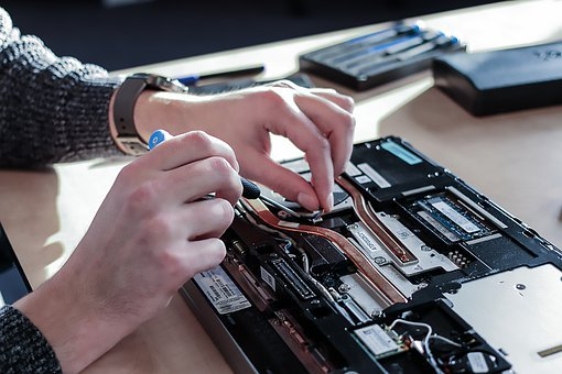Laptop, Repair, Technician, Computer, Motherboard