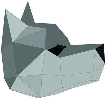 Figure, Wolf, Mask, Polygon